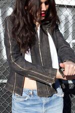 $1250 Authentic Rare DOLCE & GABBANA Women's D&G Multi Zippers Dark Denim Jacket