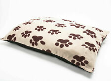 LARGE Fleece Dog Bed - Pet Washable Zipped Mattress Bed Cover Paw Design