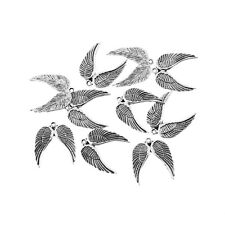 10pcs  Angel Wings Tibetan Silver Bead charms Pendants bracelet 18*22mm
