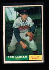 1961 TOPPS #117 DON LARSEN AUTHENTIC ON CARD AUTOGRAPH SIGNATURE AX5677