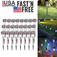 10/24Pcs Colorful LED Solar Power Wall Lights Outdoor Waterproof Garden Lamp US