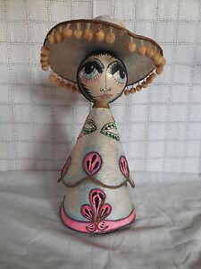 Vintage Mexican folk art figure USA made Sullivan Indiana 1972