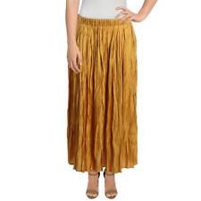 FRNCH Womens Metallic Maxi Pleated Skirt BHFO 5404