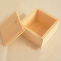 UK_ Small Plain Wooden Storage Box Case for Jewellery Small Gadgets Gift Wood Ad