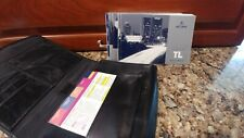 2005 Acura Tl Owners Manual with Navigation & Black Leather Case