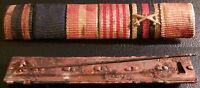 ✚5056✚ German ribbon bar WW1 WW2 Iron Cross Hanseatic Hamburg Anschluss Medal