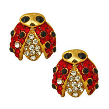 NEW KIRKS FOLLY LADY BUG LUCK PIERCED EARRINGS