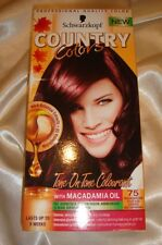 SCHWARZKOPF Country Colors HAIR DYE 75 Rouge Noir