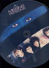 MISSING PERSONS words 12INCH PICTURE DISC 1983 EX