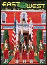 1939 East West College Shrine Game Football Program Ex Condition