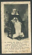 Estampa antigua El Siervo P. Antonio andachtsbild santino holy card santini