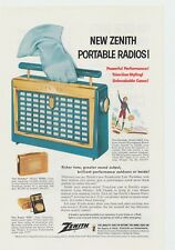 Vtg Zenith Model Y506L Portable Tube Radio Photo Lithograph Ad Man Cave Decor