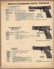 1971 SMITH & WESSON Model 46 .22,  39 9mm, Master .38 Auto PISTOL AD