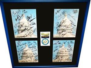 2001 2002 US Senate signed 8x10 photos framed Hillary Clinton Ted Kennedy McCain