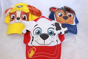 Paw Patrol Marshall Chase Rubble Baseball Cap Adjustable Kids Boy Hat