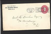 BUFFALO, NEW YORK 1900 2CT COVER PAN AMERICAN EXPO CANCEL. WELL WRITTEN LTR.