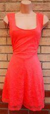 H&m floral peachy pink lace skater flippy une ligne à clapet thé rare robe 16 xl