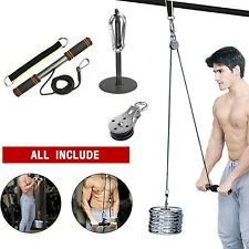 Fitness Diy Pulley Cable Machine Set Biceps Triceps Arm Blaster Hand Strength
