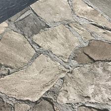 EUR 2,25 /qm / Tapete Novamur Steinoptik Mauer Bruchstein 6722-30  Braun Sand
