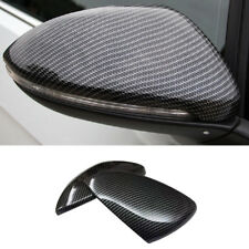 For VW Golf Mk7 2012 - 2018 Carbon fiber Style Mirror Cover Trim 2Pcs