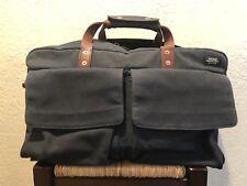 JACK SPADE Weekender Bag LeatherCanvas BLUE Duffle 18x11x10 - overnight j crew