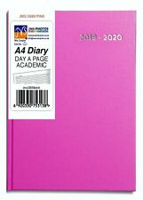 2019-2020 Pink Colour A4 Size Day A Page Mid Year Academic Hardback Diary