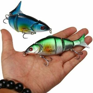 1Pc Pike Fishing Lure Artificial Multi-jointed Hard Bait Trolling Fishing Tackle