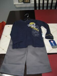 BOYS Under Armour Kids Notre Dame IRISH 2 PIECE TRACK PANTS L/S SHIRT 24 MONTHS