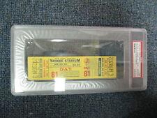 10/3/82Yankees vs. Red Sox at Yankee Stadium Ticket Mattingly hit  #2 PSA