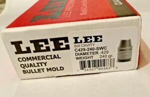 LEE 90483 6-CAVITY BULLET MOLD * C429-240-SWC .429-240 Grain 44SP, 44MAG, 44/40
