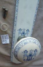 Door Knob Marked Limoges France White Porcelain Cherubs w backplate nickel  #L13