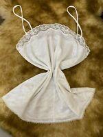 Eurobella white unpadded Camisole Top sleepwear nightwear size M 44