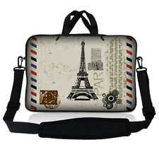 "13.3"" 13"" Laptop Mackbook Chromebook Sleeve Bag Case w Shoulder Paris Design S60"