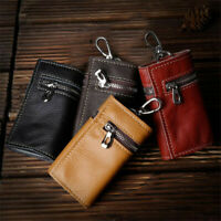 Women Faux Leather KeyChain Ring 6 Hooks Holder Case Wallet Bag Pouch Coin Purse