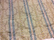 Green CURTAIN FABRIC HUGE BUNDLE 19.55m Green Damask Effect Cotton Satin