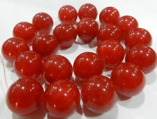 "Precious 18mm  Red Ruby Round Loose Beads Gemstone 15"""