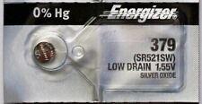 1PC Energizer 379 SR521SW Silver Oxide Battery