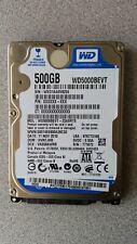 "WD SCORPIO BLUE WD5000BEVT 500GB SATA 2.5"" HDD Hard Drive 100% HEALTH WIPED"