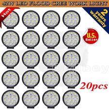 20PCS 42W CAR LIGHTING CREE LED WORK LIGHT FLOOD BEAM LAMP OFFROAD TRUCK 12V SUV