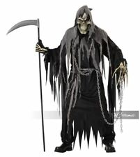 5pc Men's Mr. Grim Reaper Death Skeleton Halloween Costume