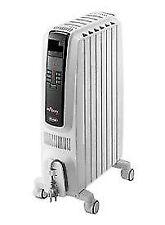 New DeLonghi 1500-Watt Oil filled Radiant Tower Electric Heater TRD40615E
