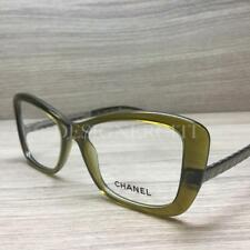 Chanel 3358 Eyeglasses Olive Green Ruthenium 1526 Authentic 53mm