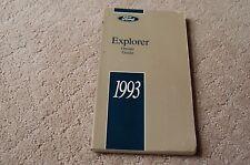 Owner's Manual Booklet for 1993 Ford Explorer Oem Xl Xlt Eddie Bauer