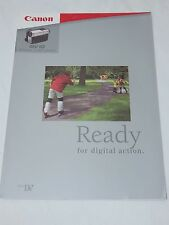 Canon MV10 digital camcorder advertising brochure