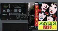 KISS Asylum JAPAN CASSETTE TAPE w/PS(torn&glued) X28R-2003 No Insert Free S&H/PP