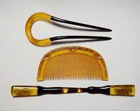 Japanese Antique Geisha KANZASHI and KUSHI Hair pin and Comb (b238)