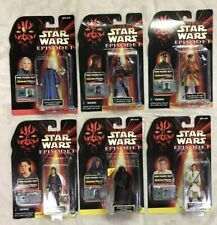 Rare Star Wars Episode 1 CommTech Collection Lot Of 6 Action Figures. Darth Obi