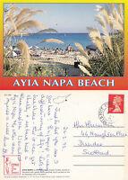 1990's THE BEACH AYIA NAPA CYPRUS COLOUR POSTCARD