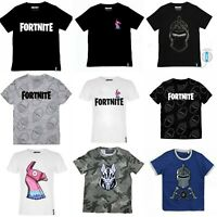 Boys Kids Children Fortnite 100%Cotton Gaming T Shirt Top t-shirt Age 6-16 years
