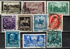 Romania Russo-Turkish War King Carol I Centenary scenes stamps 1939